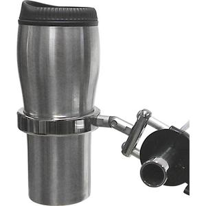 Desert Dawgs RU-RECH RoadRunner PLUS Drink Holder w/Travel Mug - Brake/Clutch Mount - Chrome