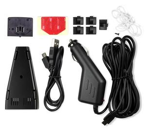 Accessory Kit for A119, A119 v2, A119S Easy Setup Dash Cam included mini USB car charging cable adhesive mount pads clip