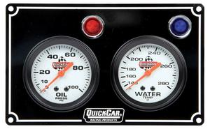 QUICKCAR RACING PRODUCTS White Face Gauge Panel Assembly P/N 61-6701