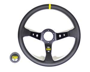 OMP Racing 350 mm Diameter 3-Spoke Corsica Steering Wheel P/N OD1956N