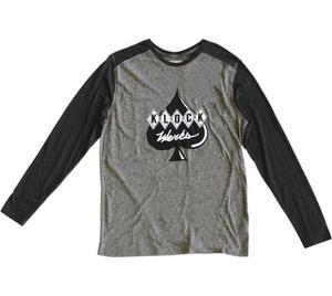 Klock Werks Color Block Long-Sleeve T-Shirt Black/Gray (Gray, XX-Large)