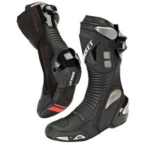 Joe Rocket Speedmaster 3.0 Leather Motorcycle Race Boots Black Mens Size 11