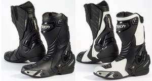 Cortech Adult Motorcycle Latigo Road Race Boots Black/Black 8