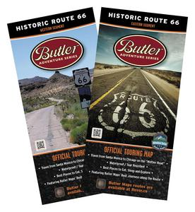 Butler Maps RT66SET Historic Route 66 Maps