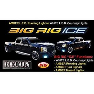 Recon 48IN BIG RIG ICE LED RUNNING LIGHT KIT IN AMBER 2PC INCL L/R SIDES