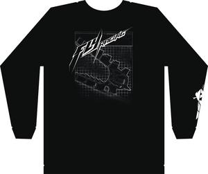 Fly Racing Adult Snowmobile Focus LS Shirt Black Sleeved Shirt MD Medium