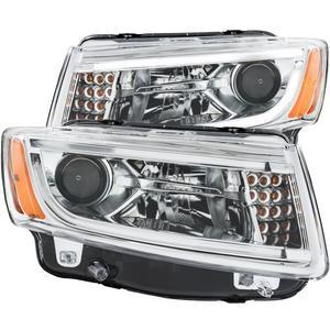 Anzo USA 111328 Projector Headlight Set Fits 14-15 Grand Cherokee (WK2)