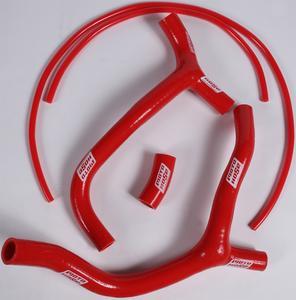 Moto Hose Red Silicone Motorcycle Radiator Y Hose Kit 24-212YR