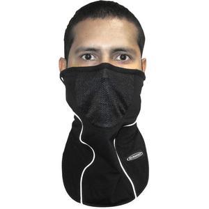Schampa Stretch Half-Face Mask Face Fit Stretch (Black, OSFM)