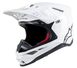 Alpinestars Supertech S-M10 Solid Helmet Gloss White (White, Small)