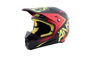 Answer SNX 2 Graphics Helmet Flo Red/Black/ACI (Red, XX-Large)