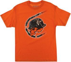 Metal Mulisha Black Out T-Shirt (Orange, Medium)