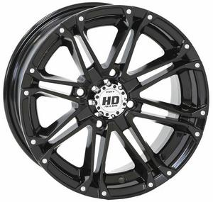 STI HD3 ATV UTV Gloss Black Wheel 12x7 HD3 4/4 2+5
