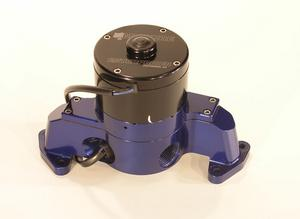 MEZIERE Blue Aluminum 100 Series Electric Water Pump Kit Late SBF P/N WP173B