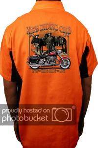 "Biker Mechanic Work Shirt ""Men's Riding Club American Legends"" (5X)"