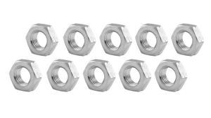 ALLSTAR Aluminum 7/16-20 in LH Thread Natural Jam Nut 10 pc P/N 18277-10