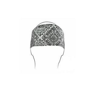 Zan Headgear Highway Honey Womens Headband White Paisley Rhinestone (White)