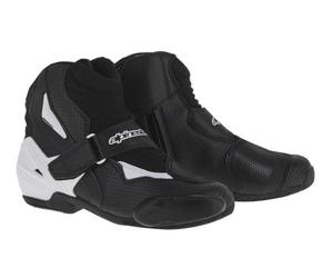 Alpinestars SMX-1R Vented Boots Vented Black/White (Black, 12)