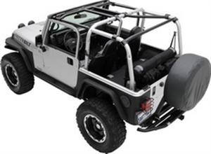Smittybilt 76901 SRC Cage Kit For 07-18 Wrangler JK 8 pc. Gloss Black