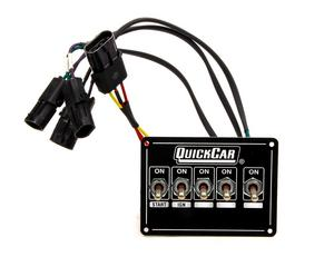 QUICKCAR RACING PRODUCTS 4-1/8 x 3 in Dash Mount Switch Panel P/N 50-7714
