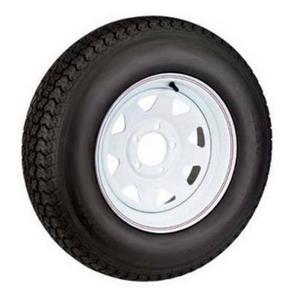 AWC TA2024012-71B530C Bias C/6 Ply, 8 Spoke, Trailer Tire/Wheel Kit - 5.30-12 - 5/4.5
