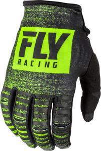 Fly Racing Kinetic Noiz Youth Gloves Black/Hi-Vis (Black, 5)