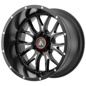 "4-Asanti AB807 Carbine 20x9 6x4.5"" +40mm Black/Milled Wheels Rims 20"" Inch"
