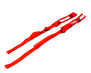 RJS SAFETY Red SFI 3.3 Arm Restraint Harness 2 pc P/N 11000304