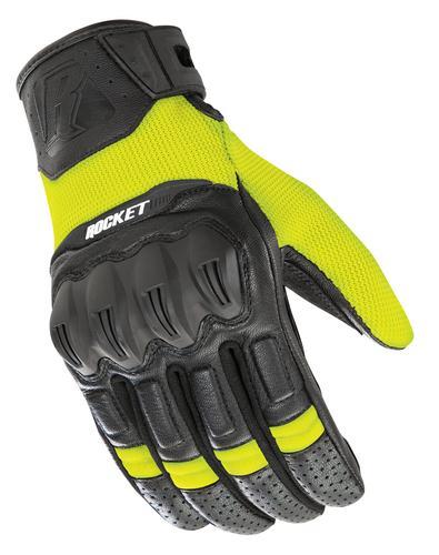 Joe Rocket Phoenix 5.1 Hybrid Gloves Hi-Viz/Black (Black, Medium)