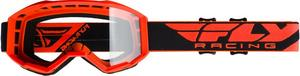 Fly Racing Focus Goggles Orange / Clear Lens (Orange, OSFM)