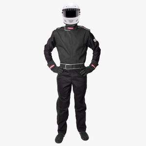 Pyrotech Racing Black 5X-Large 1 Piece Sportsman Deluxe Driving Suit P/N 110900