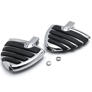 Krator Chrome Motorcycle Wing Foot Pegs Footrests L+R For Kawasaki Vulcan 800 Classic 1996-2005 Rear