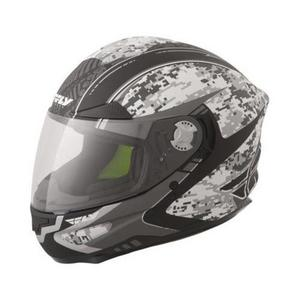 Fly Racing Luxx Camo Helmet Gray Camo (Gray, Medium)