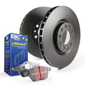 EBC Brakes S20K1231 S20 Kits Ultimax and Plain Rotors Fits 09-16 Venza