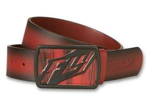 Fly Racing Gentlemens Belt Cherry Wood (Red, 28-30)