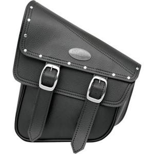All American Rider 947RVT-C RuffHyde Swingarm Storage Bag with Twin Buckles and Accent Studs - Black