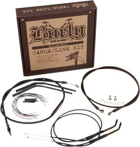 "Burly Brand Braided SS Cable/Line Kit For 13"" Ape Hanger Bar B30-1117"