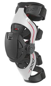 POD K4 MX Knee Brace - Left Gray/Red (Gray, Medium - Large)