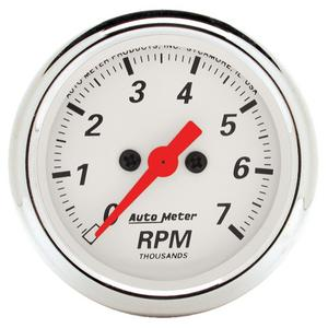 AutoMeter 1397 Arctic White Electric Tachometer