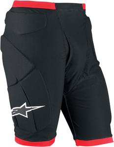 Alpinestars Compression Protection Shorts Black/Red Mens Size XL