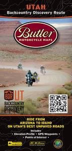 Butler Maps UTBDR Backcountry Discovery Routes Map - Utah