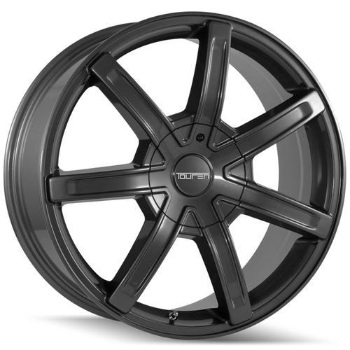 "Touren TR65 18x8 6x120/6x132 +30mm Gunmetal Wheel Rim 18"" Inch"