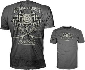 Lethal Threat Adult Wicked Piston Grey Tee Shirt XL