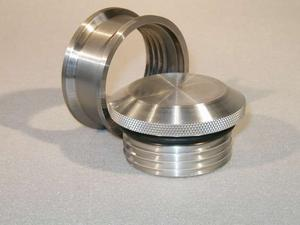 MEZIERE Aluminum Bung Weld-On 2-3/4 in OD Pro Style Bung and Cap Kit P/N PN6700