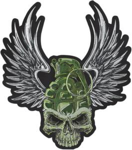 Lethal Threat LT30205 Grenade Skull Embroidered Patch