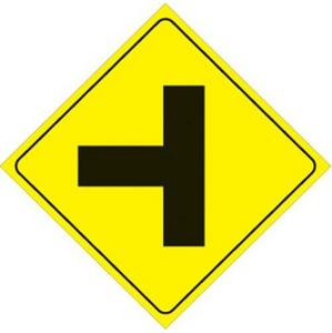 Voss 467 LT YR 12x12in. Reflective Trail Sign - Left T-Intersection (Yellow/Black)
