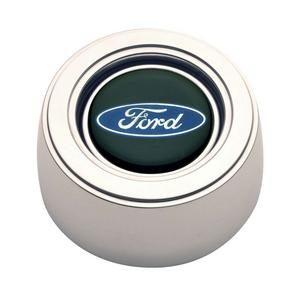 GT Performance Products GT3 Horn Button Ford Blue Oval Polished P/N 11-1521