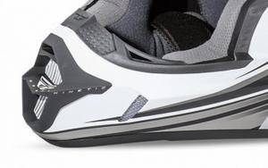 Fly Racing 73-4781 Mouthpiece for Kinetic Fullspeed Helmet - Matte White/Black
