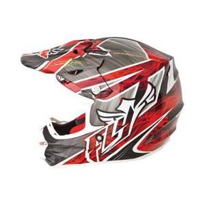 Fly Racing 73-46200 Visor for F2 Carbon Helmet - Acetylene White/Red