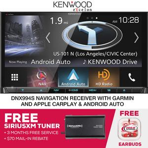 Kenwood eXcelon DNX994S Navigation Receiver With Free SiriusXM Tuner